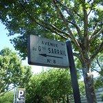 Plaque de rue de localisation du square