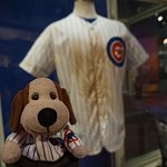 Some sports history, I posed with a Cubs shirt because I had one on.