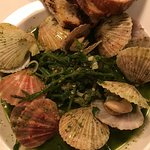 Local scallops with sea greens