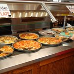 This is the fabulous pizza buffet at Gatti's.