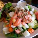 Side salad with bison burger