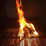 Tomahawk on fire