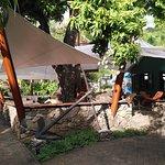 La terrasse du salon de thé