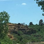 Common sites throughout the park...rock formations and greenery.