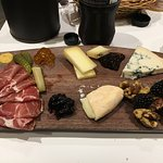 Cheese and meat platter.