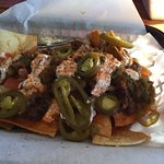 Pork nachos requested without beans. Great!