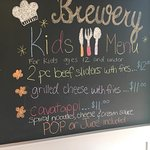 Our kids menu!