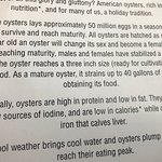 More details about the Marina Oyster Barn. Hope you can read the story about oysters. It's a gre