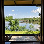 Looking out at the Wisconsin river from the restaurant in the Frank Lloyd Wright Visitors center