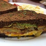 Southern slammer sandwich - can you see the layers of yumness?