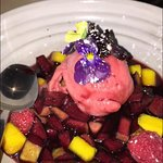 Spiced Sangria Sorbet - A very refreshing and delicious way to finish your dinner, sorbet on poi