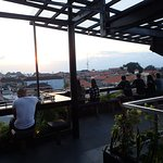 Diners can choose to eat and drink with the view of the sunset on the fourth floor of the buildi