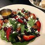 Berry Salad with bread and oil