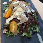 insalatina di bresaola con scaglie di tartufo e grana