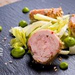 Rabbit terrin with green apple-celery salad