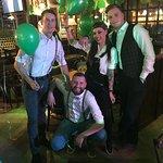 Irish Nesė Pub Staff celebrating St. Patricks Day