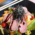 Seared duck salad