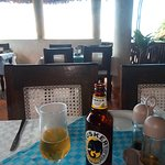 Have a cold beer while waiting for your meal, and enjoy a spectacular view