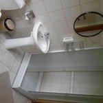 Badrum på hotellet.