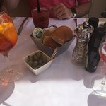 Aperol Champagne and a Strawberry fraise