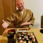 sushi with guest!