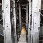 Walkway thru bomb bay