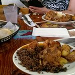 Oxtail Stew, moro rice and sweet plantains