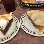 chocolate cream and apple pie