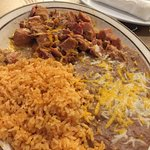 Chile Verde, Rice and Beans