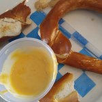 Almost finished our pretzel before remembering to take a photo.