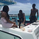 The crew and fresh conch salad