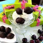 """Dark Chocolate """"Cherry Bombs"""" for 4th of July!"""