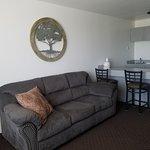 King Suite 302 Sitting area/food prep area