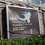 Bay Harbour sign that greets you.