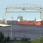 Ore boat arriving in Duluth