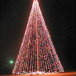 A.P.Green Flag pole at Christmas time... .. . by Carl H.    =)~