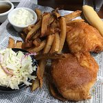 Over Battered Fish and Chips