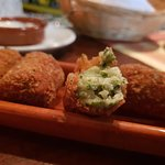 Cheeese and spinach croquettes