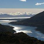 Local de observação do lago Escondido.