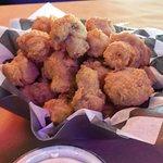 16 Oz Ribeye & Fried Mushroom Appetizer.   Yummy goodness!