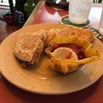 quesadilla. good salsa too.
