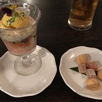 Falooda, cookies and jujubes