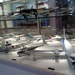 models of past war and commercial planes-- all kids and kids-at-heart would love this!