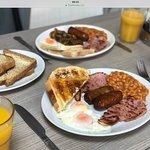 English breakfast with Cumberland's.