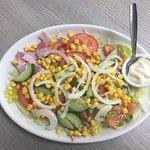 Fresh Salad made to order, choice or mayo or salad cream