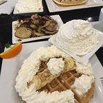 Rear: Florida waffle; front: granola waffle
