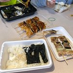 Pork & Chicken Yakitori with Rice