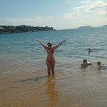 Na beira da praia