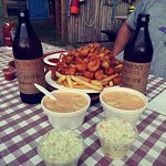 The Fisherman's Platter, Lobster Bisque, & Shoal Hope Cider