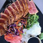 ahi sashimi (we split as an appetizer)